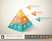 foto of family planning  - Financial planning pyramid infographic chart vector design element - JPG