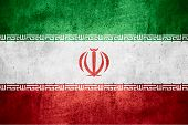 pic of iranian  - flag of Iran or Iranian banner on rough pattern texture background - JPG