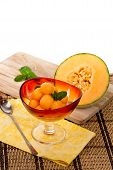 pic of cantaloupe  - Cantaloupe Melon and Mint - JPG