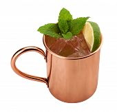 foto of mule  - Moscow Mule in a Copper Mug - JPG