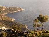 image of gey  - Landscape of Turkish coast of mediterranean sea - JPG