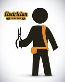 picture of lineman  - electrician  design over white background - JPG