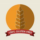 stock photo of wheat-free  - gluten free design - JPG