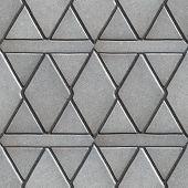 pic of slab  - Gray Paving Slabs Built of Rhombuses and Rectangles - JPG
