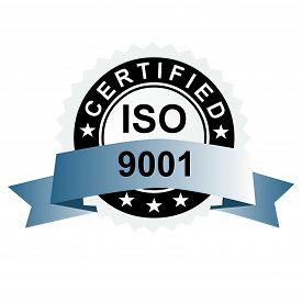 stock photo of emblem  - ISO certified emblem ISO stamp quality symbol - JPG