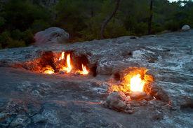 picture of unicity  - Phenomenal Chimaera natural gas flame on Yanartas mountain - JPG