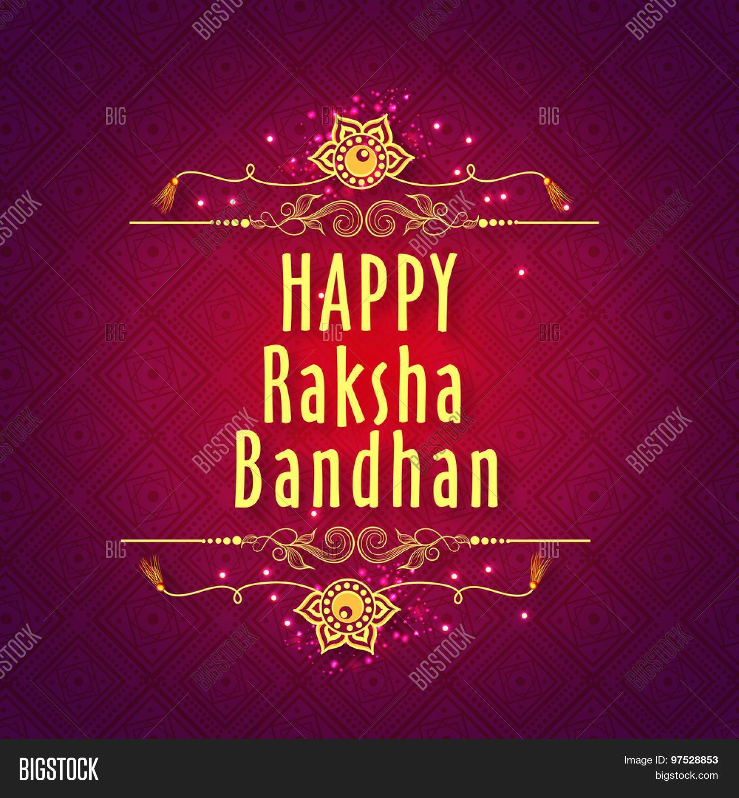 Rakhi Festival Quotes Brother: Elegant Greeting Card With Beautiful Rakhi On Floral