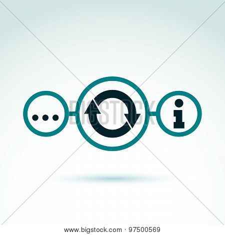 Information analyzing collecting and exchange theme icon, analyze and solution, vector