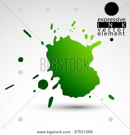 Modern bright vector inky background, eps8 blob painted with brush, muddled graffiti shape element,