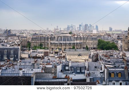 Jardin Nelson Mandela Covered Market With Paris Skyline