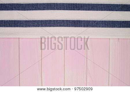 Blue Towel Over Table