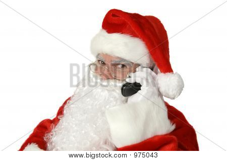 Classic Santa With Cellphone