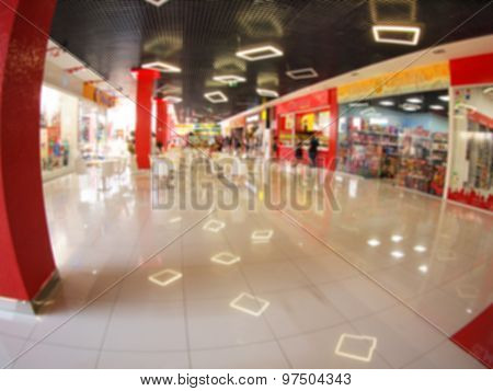 Defocused And Blur Of The Interior Of The Mall