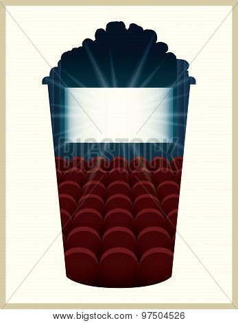 Popcorn Bucket Vector Illustration