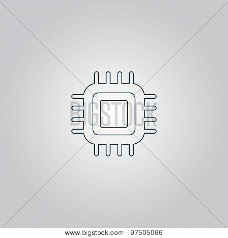 Flat Icon of cpu