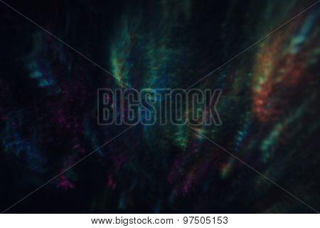 Dark Bokeh With Multicolored Lights