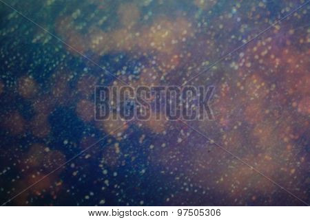 Dark Abstract Background With Bokeh Lights