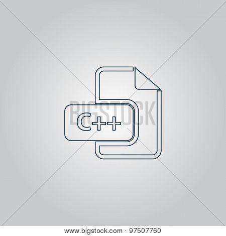 C development file format flat icon