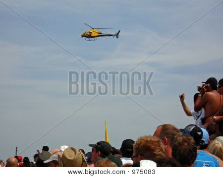 People And  Helicopter