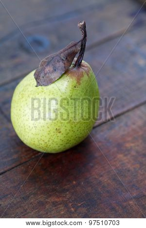 Pear On Wood