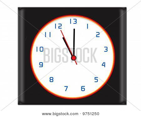 Extra Hour In The Day Clock - Black
