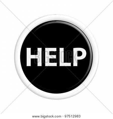 Black Help Button.