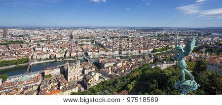 Panoramic View Of Lyon