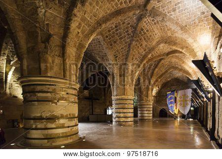 Underground Citadel And Prison. Akko (acre). Israel.