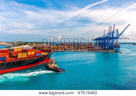 Container Port Of Freeport Grand Bahamas Island