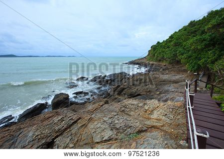 Rock Beach Of Khao Laem Ya Sea National Park In Rayong Province Eastern Of Thailand