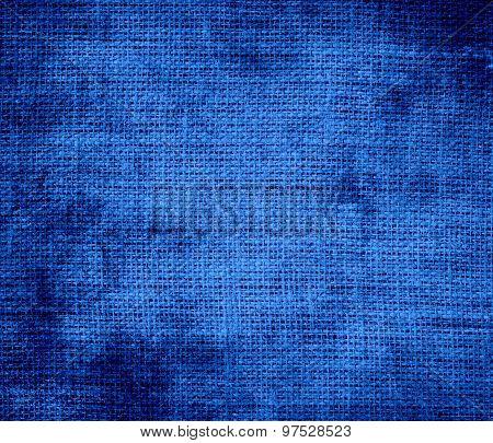 Grunge background of denim burlap texture