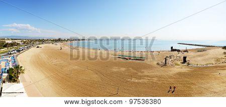 Panorama Of The Beach, Costa Dorada, Spain