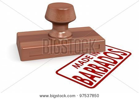 Wooden Stamp Made In Barbados