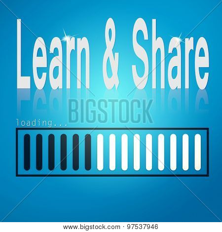 Learn And Share Blue Loading Bar