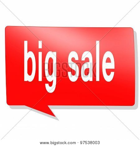 Big Sale Word On Red Speech Bubble