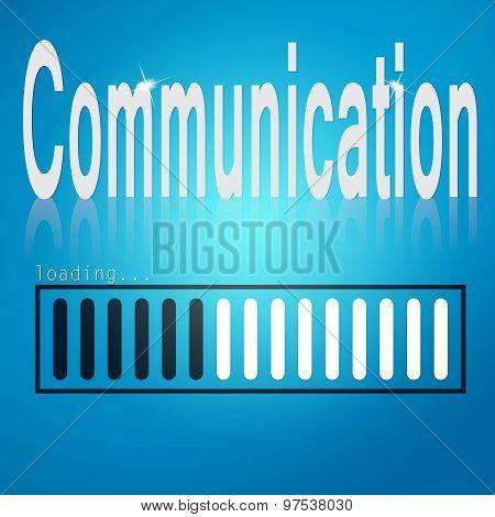 Communication Blue Loading Bar