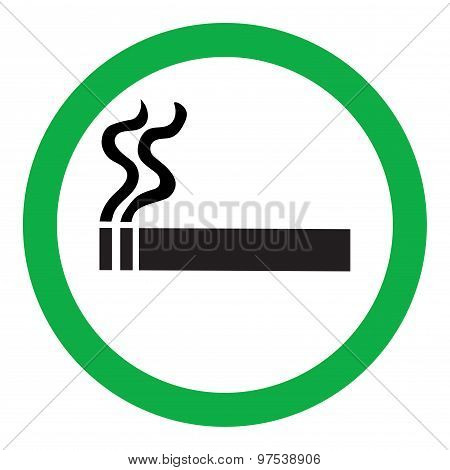 Icon the resolving smoking