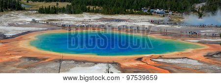 Great Prismatic Spring Panorama