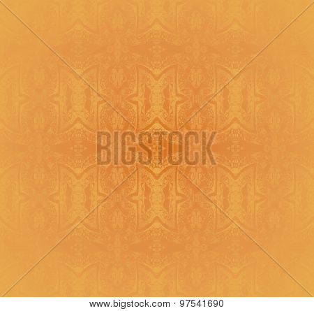 Seamless ornaments ocher blurred