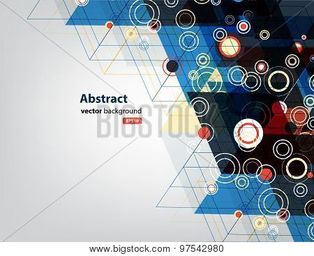 Abstract Vector Background Of Triangle And Circle Technology