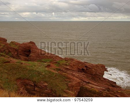 Cliffs in Arbroaht.
