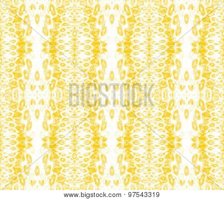 Seamless ellipses pattern yellow orange