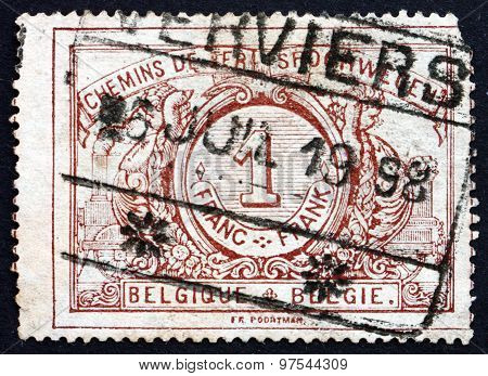 Postage Stamp Belgium 1895 Parcel Post Stamp