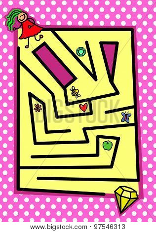 Girly Puzzle Maze Game