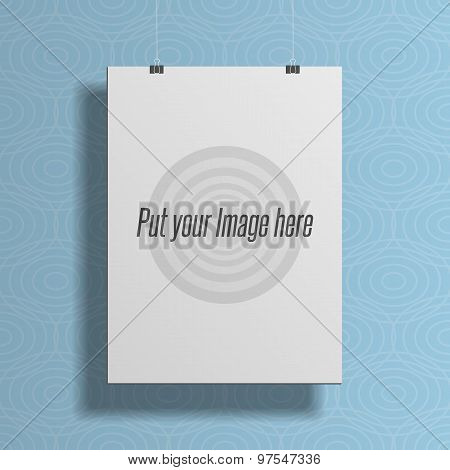 Realistic White Empty Template For Your Poster Design