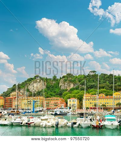 Port Of Nice, France, Provence, French Riviera, Mediterranean Sea