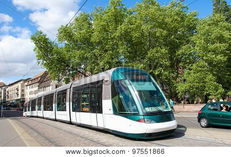 Tram In Strasbourg, Alsace, France
