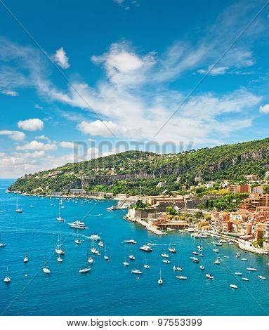 Summer Holidays Background With Blue Sky And Sea