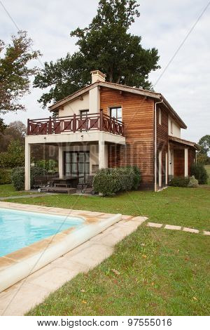 a private wooden house