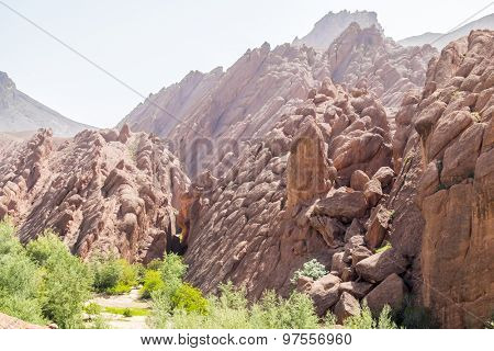 Picturesque rocks in Dades Gorges, Morocco